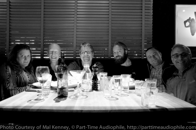Colleen Cardas, Warrent Jarrett, Marc Phillips, Rafe Arnott, Brian Hunter, and Tony Chipelo after eating ridiculous amounts of food